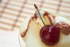 Fresh pear dessert Royalty Free Stock Images