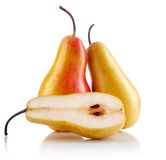 Fresh pear fruits with cut Stock Image