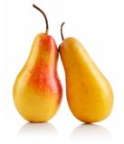Fresh Pear Fruits Isolated Stock Photography