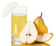 Fresh pear juice Stock Photos