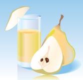 Fresh pear juice stock photo