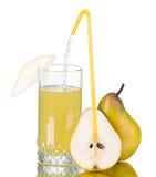 Fresh pear juice Stock Image