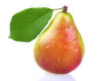 Fresh pear with leaf Royalty Free Stock Photo