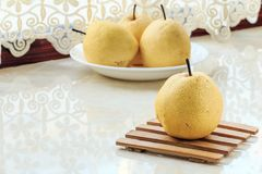Fresh pear. Rich in nutrition, contains a variety of vitamins and cellulose fruit royalty free stock images
