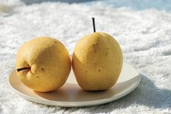 Fresh pear. Rich in nutrition, contains a variety of vitamins and cellulose fruit royalty free stock photography
