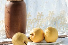 Fresh pear. Rich in nutrition, contains a variety of vitamins and cellulose fruit stock photography