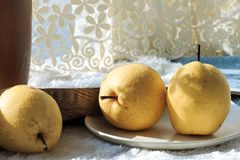 Fresh pear. Rich in nutrition, contains a variety of vitamins and cellulose fruit royalty free stock photo