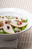 Fresh pears arugula gorgonzola cheese salad Stock Photo