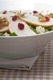 Fresh pears arugula gorgonzola cheese salad Royalty Free Stock Photo