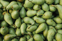 Fresh pears background. Natural local products on the farm market. Harvesting. Seasonal products. Food. Royalty Free Stock Images
