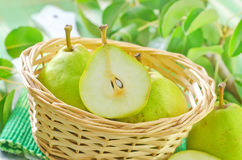 Fresh pears Royalty Free Stock Photos
