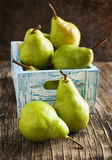 Fresh pears in a box Royalty Free Stock Photo