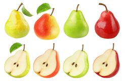 Fresh pears collection stock photos