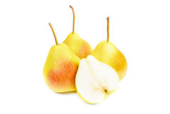 A fresh pears isolated ower white. Background royalty free stock image