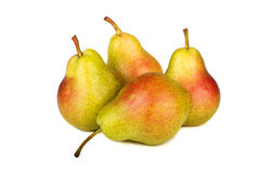 Fresh pears isolated on white. Background Stock Photos