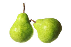 Fresh pears isolated on white background Stock Images