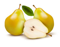 Fresh pears isolated on white. Stock Photography