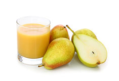 Fresh pears and juice Stock Photography