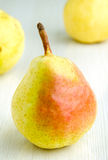 Fresh pears on kitchen table Stock Photos