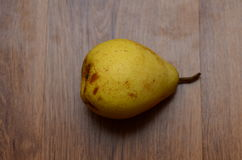Fresh pears on old wooden table Royalty Free Stock Photo