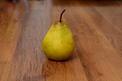 Fresh pears on old wooden table Stock Image