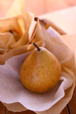 Fresh pears on paper Stock Photo