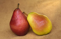 Fresh Pears Still life Warm Light Royalty Free Stock Photos