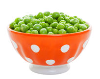Fresh Peas in a Bowl Royalty Free Stock Image