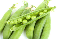 Fresh peas isolated o Stock Photo