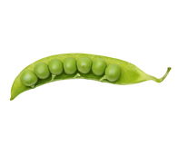 Fresh peas isolated on white Royalty Free Stock Image