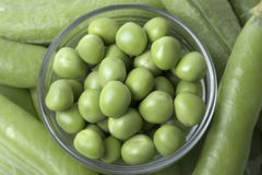 Fresh peas Stock Photography