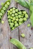 Fresh Peas stock image