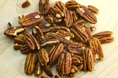 Fresh Pecans Stock Photo