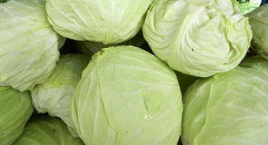Fresh  peeled cabbage Royalty Free Stock Images