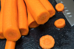 Fresh peeled carrots Royalty Free Stock Image