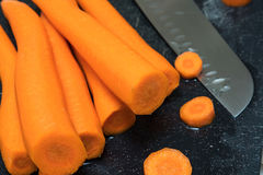 Fresh peeled carrots Stock Photography