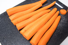 Fresh peeled carrots Royalty Free Stock Photography
