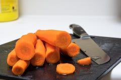 Fresh peeled carrots Stock Photo