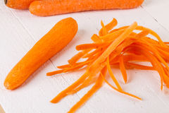 Fresh peeled carrots Royalty Free Stock Images