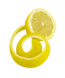 Fresh peeled lemon Royalty Free Stock Photo