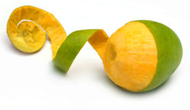 Fresh peeled mango Stock Images