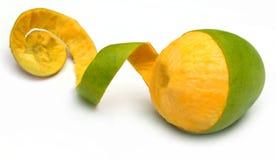 Fresh peeled mango stock images
