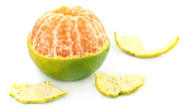 Fresh peeled orange Stock Images