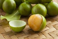 Fresh peeled quenepa fruit. Fresh ripe peeled quenepa t Royalty Free Stock Images