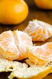 Fresh peeled tangerine Royalty Free Stock Photography