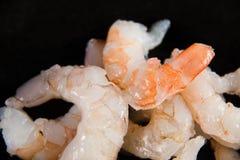Fresh peeled uncooked shrimp harvest Stock Image