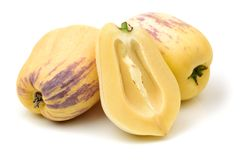 Fresh Pepino Fruit Royalty Free Stock Photos