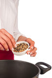 Pepper grains Stock Image
