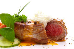 Fresh pepper steak isolated. Royalty Free Stock Photo