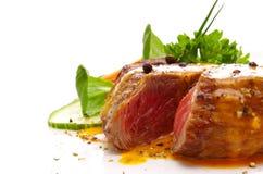 Fresh pepper steak isolated. Royalty Free Stock Image